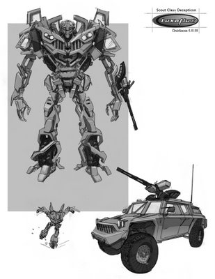 Transformers Revenge of the Fallen Video Game Concept Art And Designs