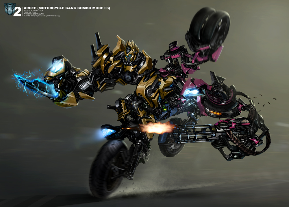 First Look at Arcee Combined in Concept Art