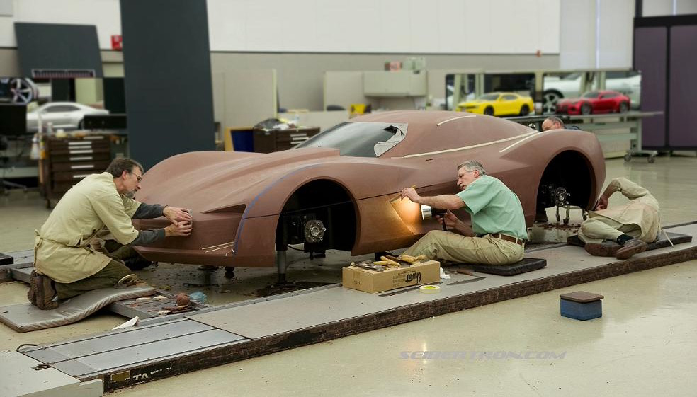 """Exclusive- Chevy Corvette Stingray """"ROTF Sideswipe"""" Concept Images - Transformers"""