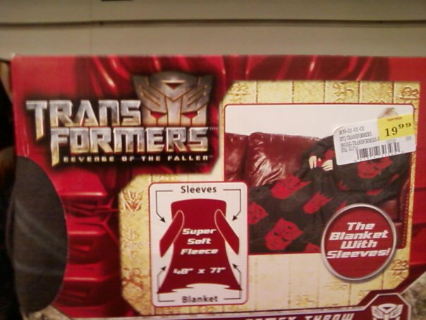 "Transformers ROTF Themed ""Snuggie"" Found"
