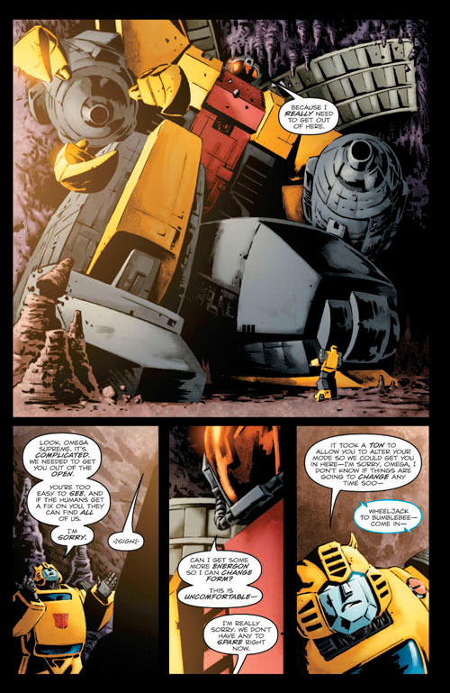 Re: TRANSFORMERS: BUMBLEBEE #1 6 page preview