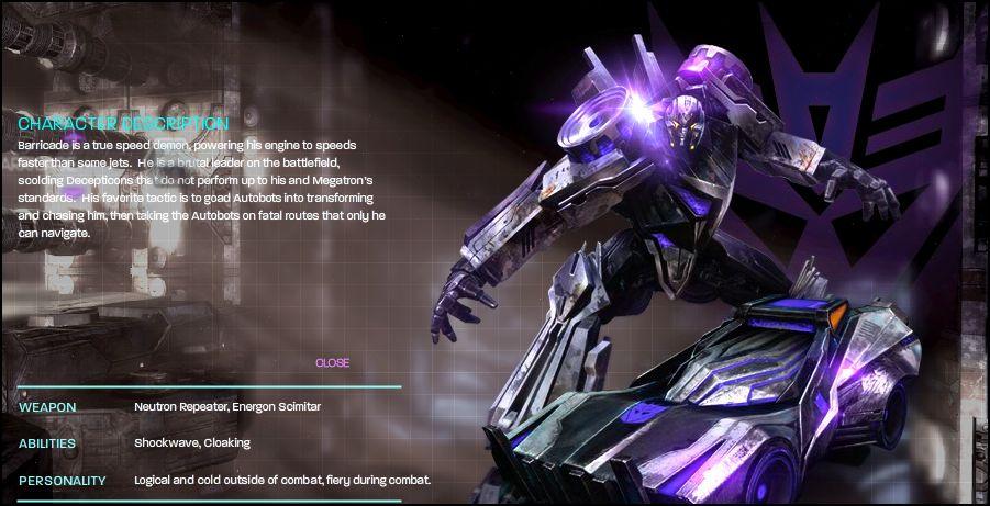 [Jeu vidéo] Transformers War For Cybertron/La Guerre pour Cybertron + Jouets - Page 4 1272502802_Barricade