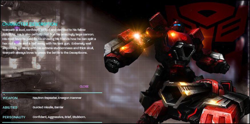 [Jeu vidéo] Transformers War For Cybertron/La Guerre pour Cybertron + Jouets - Page 4 1272502802_Warpath