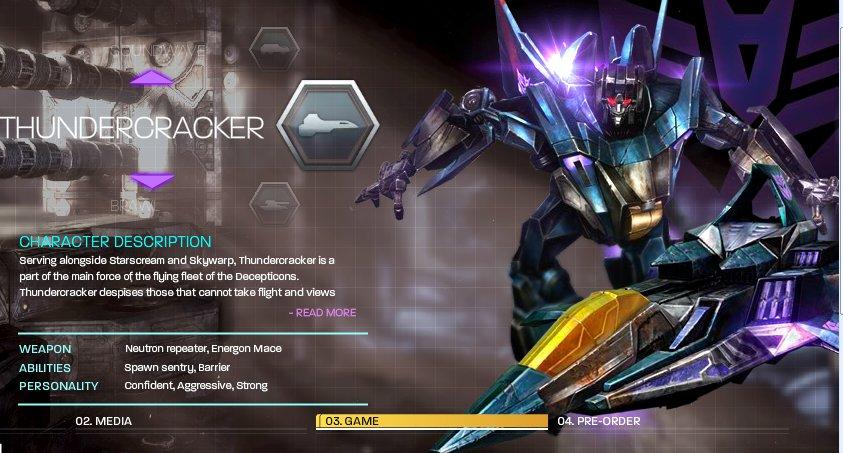 [Jeu vidéo] Transformers War For Cybertron/La Guerre pour Cybertron + Jouets - Page 4 1273693350_wfcthundercracker