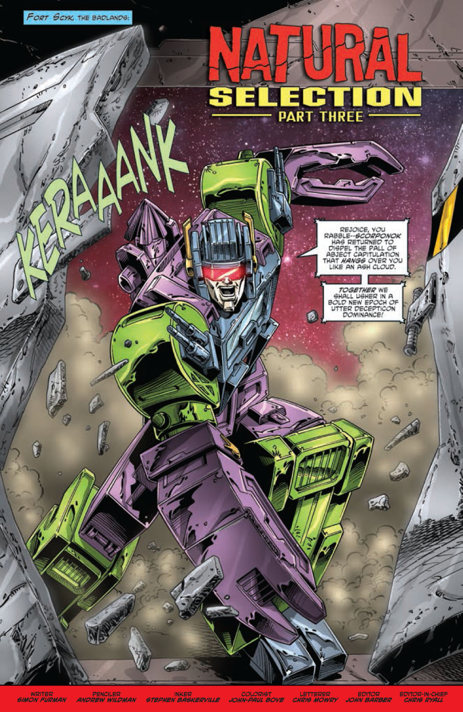 Re: Back on Board - Review of TRANSFORMERS REGENERATION #88