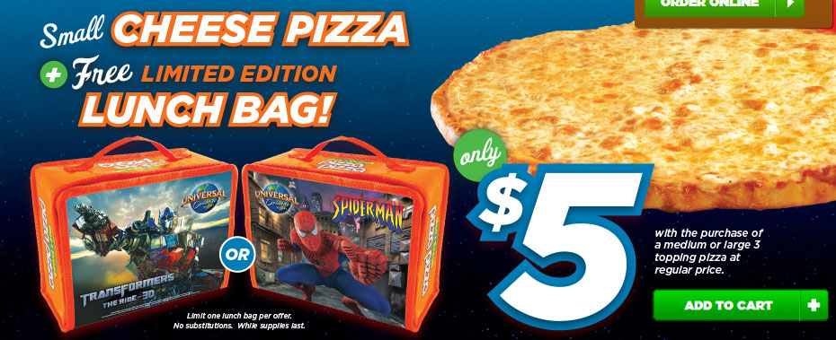"Transformers News: ""Pizza Pizza"" Offering Transformers-themed Lunchboxes and a Trip to Universal Orlando"