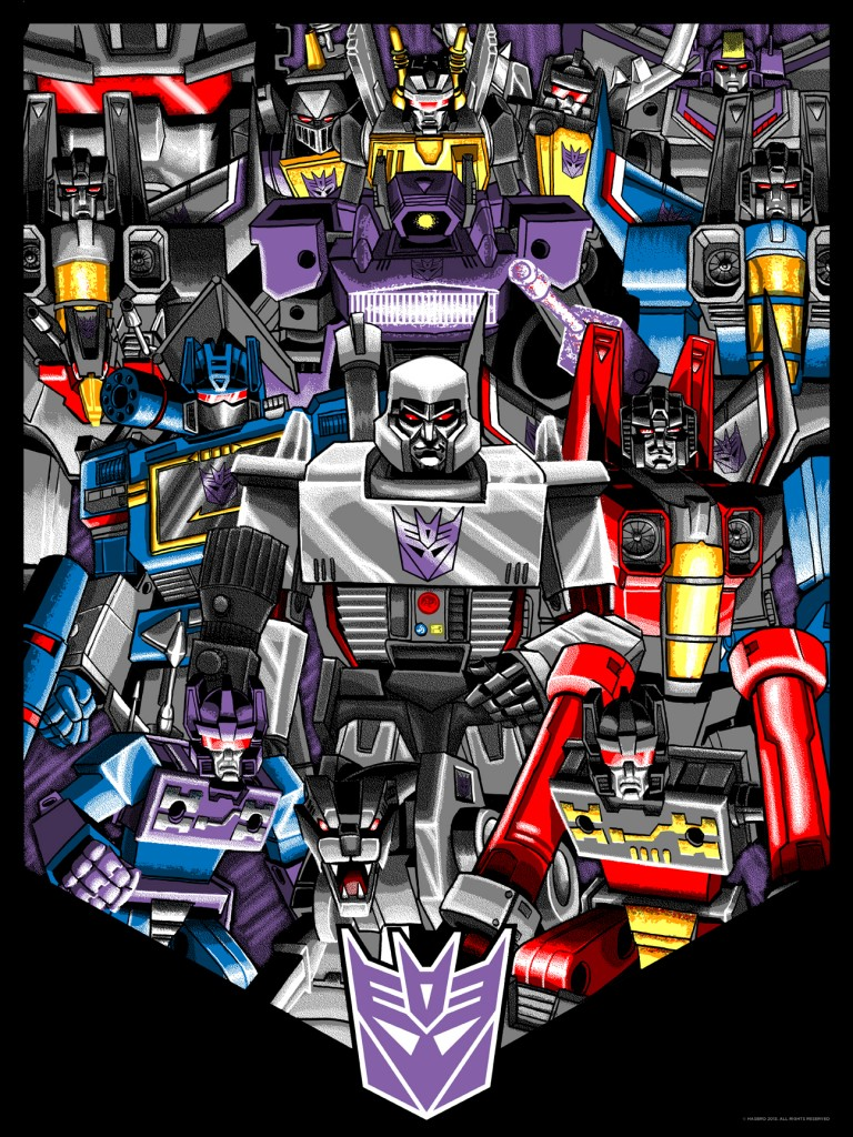 Transformers News: Official NYCC Acid Free Prints: Autobot and Decepticon Group Shots
