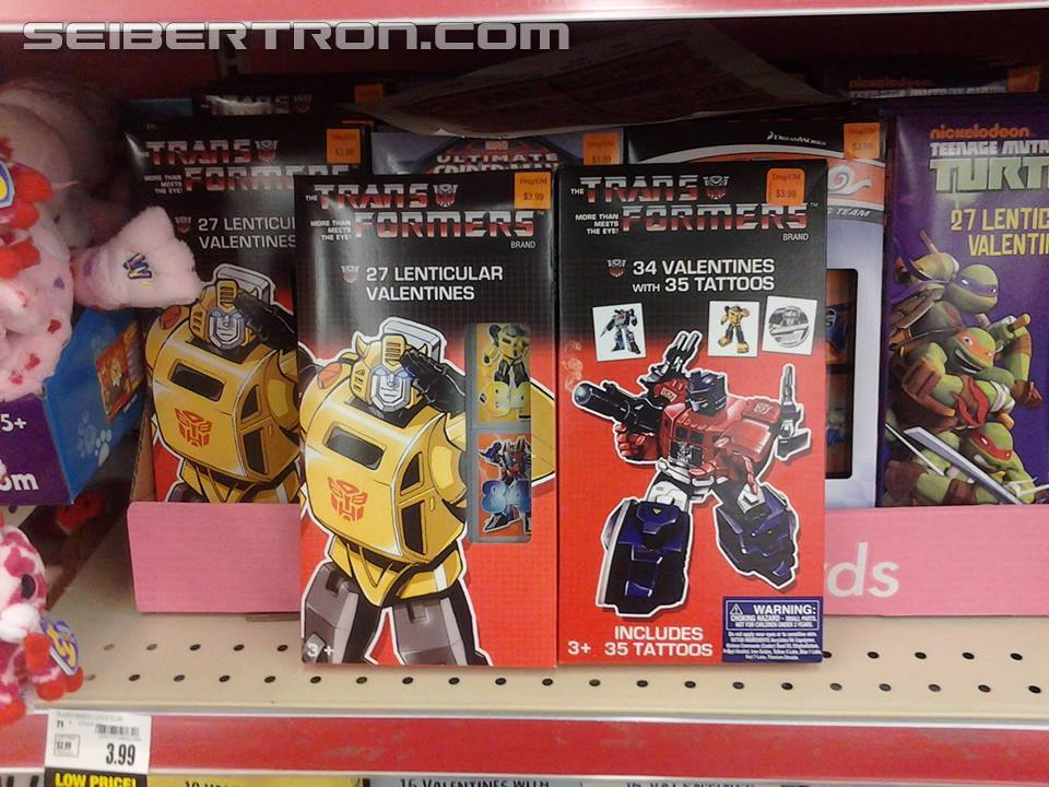 Transformers News: G1 Transformers Valentines Appearing At Retail