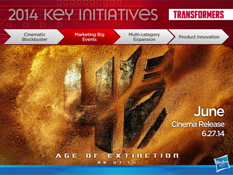Transformers News: Toy Fair 2014 Coverage - Hasbro Investor Day Presentation