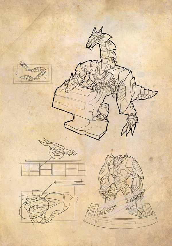 Transformers News: Artist John Forcucci's Shockwave's Lab Notes Artwork Gallery