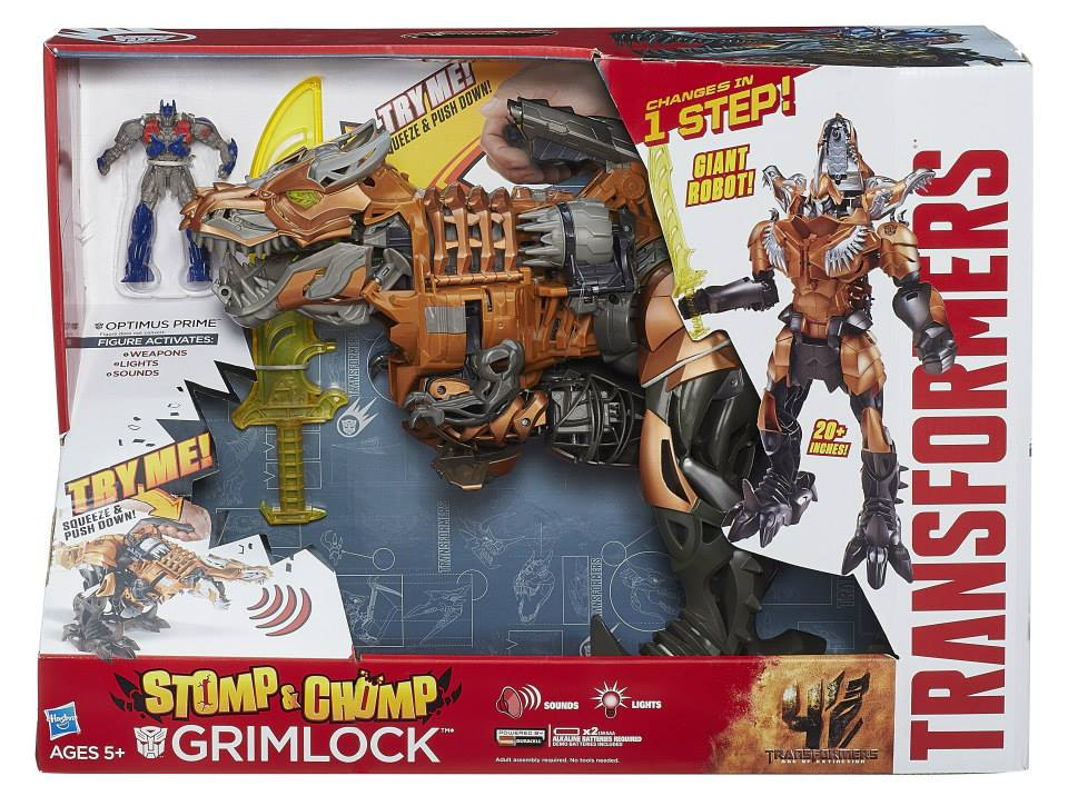 Transformers News: Stomp & Chomp Grimlock Official In Package Images