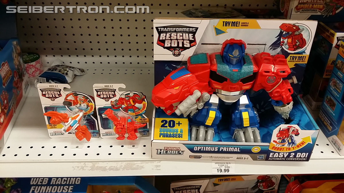 Transformers News: Transformers Rescue Bots Roar and Rescue Optimus Primal, Heatwave and Blades Sighted in Retail