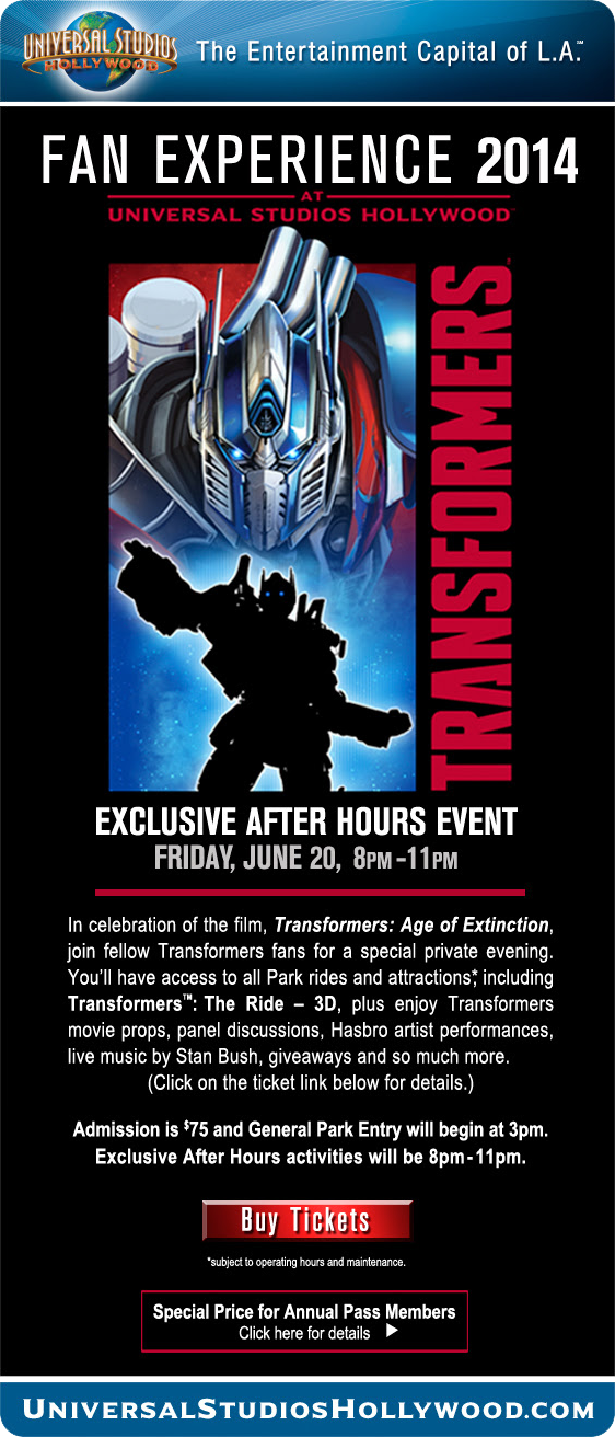 "Transformers News: Two Fan Events Celebrate Power of ""Transformers"" as Age Of Extinction Heads To Theaters in June"