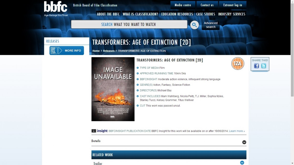 Transformers News: Age Of Extinction's British Board Of Film Classification Confirms An Even Longer Running Time
