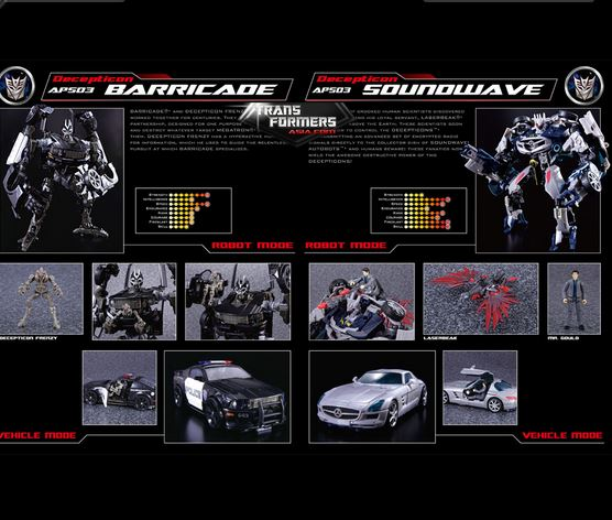 Transformers News: Transformers Asia Unveils Reissues Of Masterpiece Skywarp, Human Alliance Barricade And Soundwave