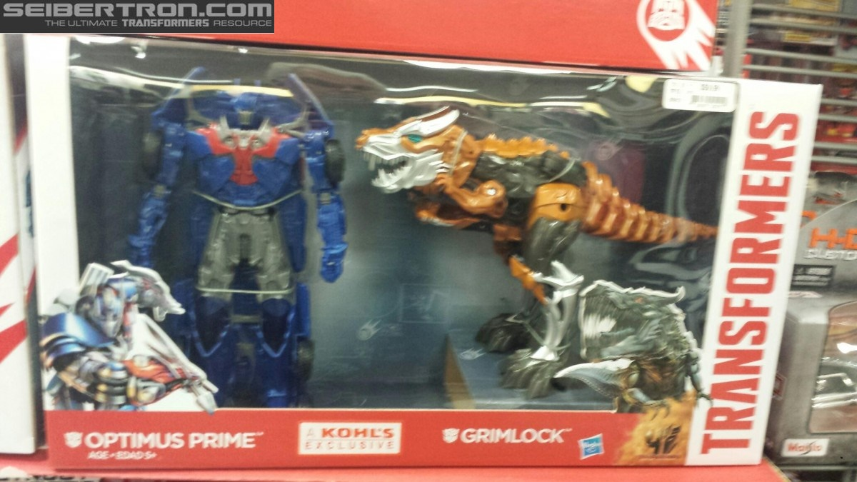 Transformers News: Optimus Prime and Grimlock Quick Change Two Pack Sighted at US Retail