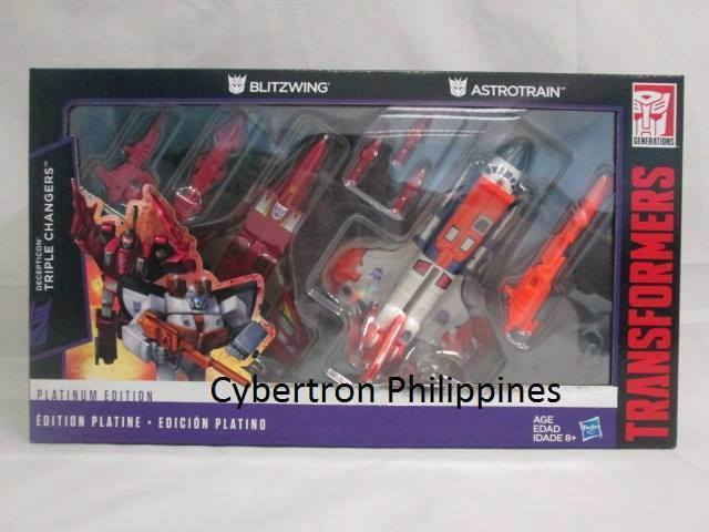 Transformers News: First Platinum Edition Blitzwing and Astrotrain In Package Image Surfaces
