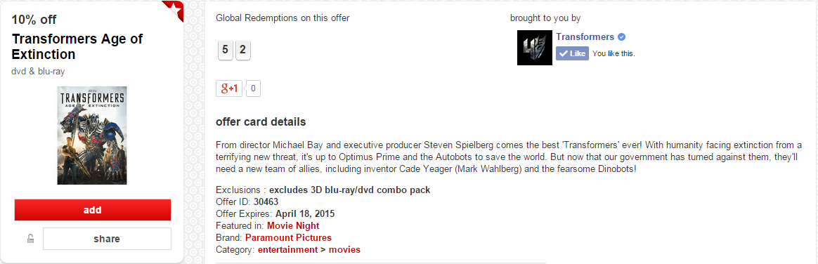 Transformers News: Transformers Toys And AOE Home Video On Sale With Target Cartwheel Coupons