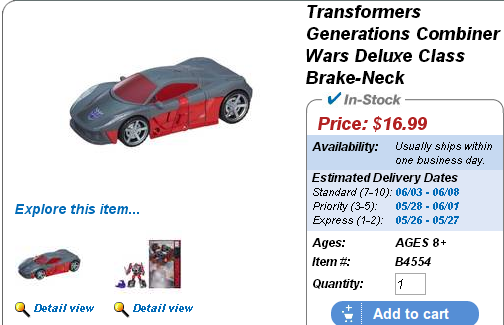 Transformers News: New Combiner Wars figures available on HTS: Quickslinger Brakeneck and more