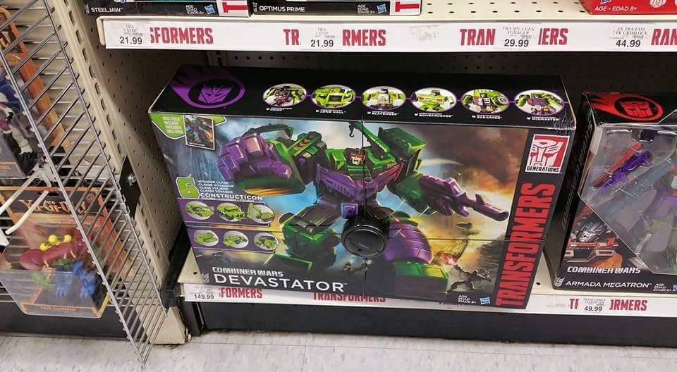 Transformers News: Combiner Wars Devastator Found At US Retail, Price Confirmed @ $149.99