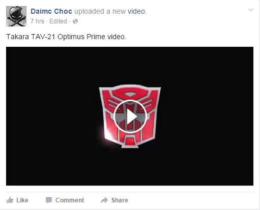 Transformers News: New Japanese Language Commercial For TAV Optimus, Plus A New Tweet From TFYuki