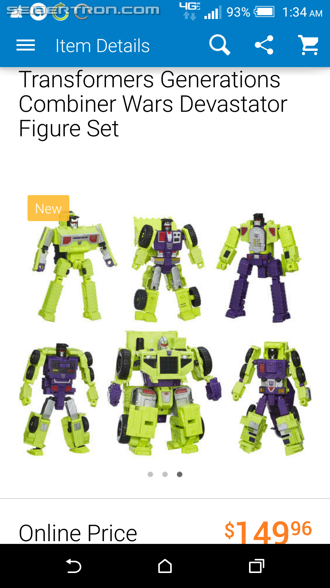 Transformers News: Combiner Wars Devastator Listed On Wal*Mart's Smartphone App, But Not The Website