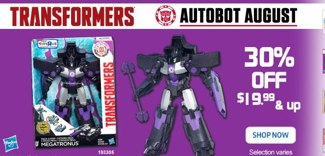 Transformers News: Big Transformers Sale at Toysrus Can