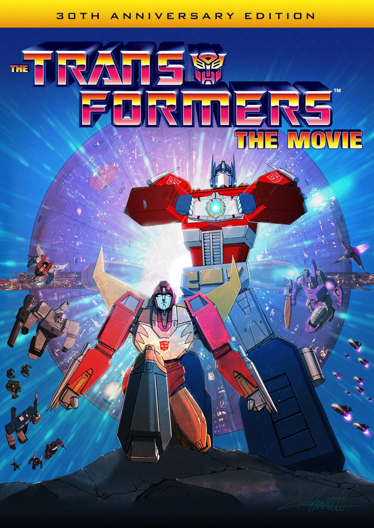 Transformers News: New artwork revealed for upcoming Transformers The Movie 30th Anniversary Edition Blu-Ray and DVD