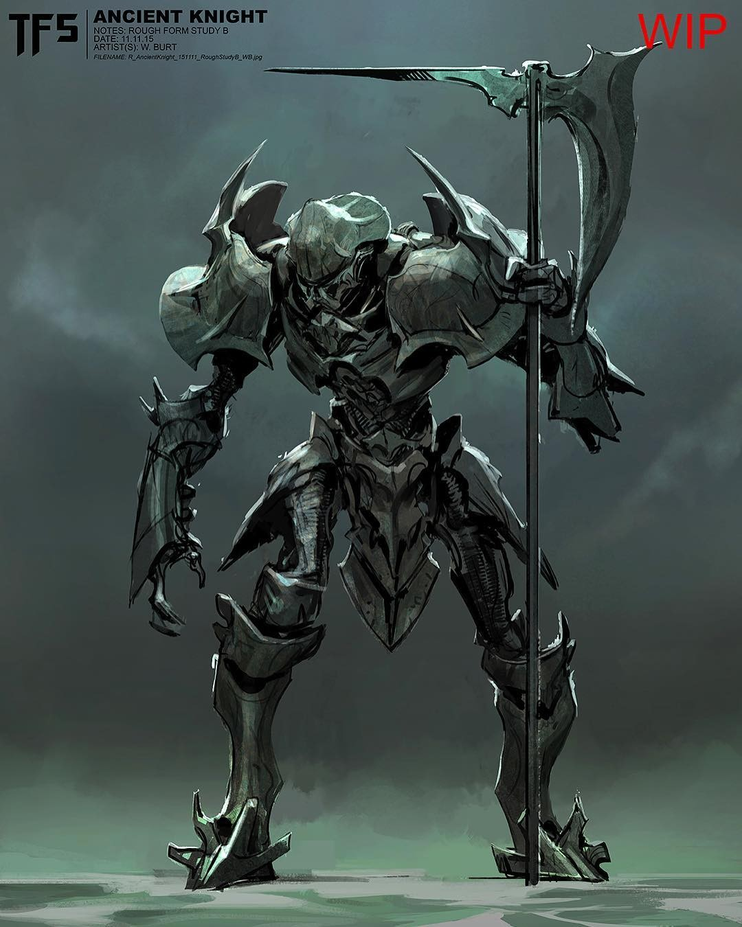 Transformers News: Transformers: The Last Knight Concept Art: Early Knight And Sideways