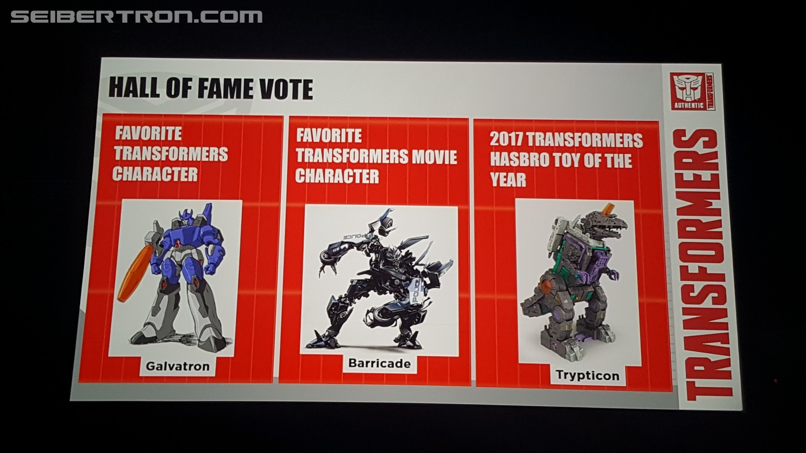 Transformers News: #HASCON 2017 Hall of Fame Character Awards and Toy of the Year!