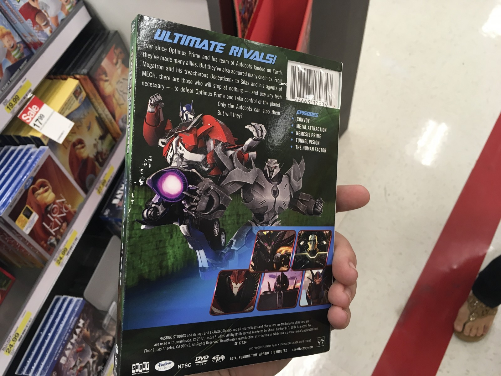 Transformers News: Transformers: Prime Ultimate rivals on DVD sighted in New York!