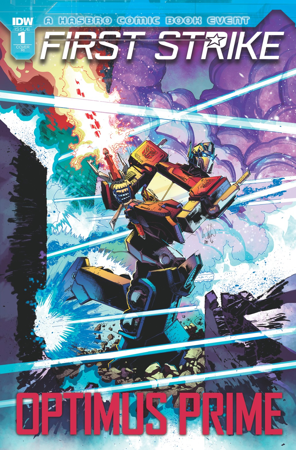 Transformers News: Variant Incentive Cover for IDW First Strike Optimus Prime One Shot