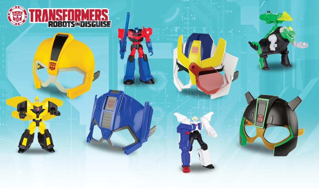 Transformers News: New McDonalds Happy Meal Robots in Disguise Toys and Masks