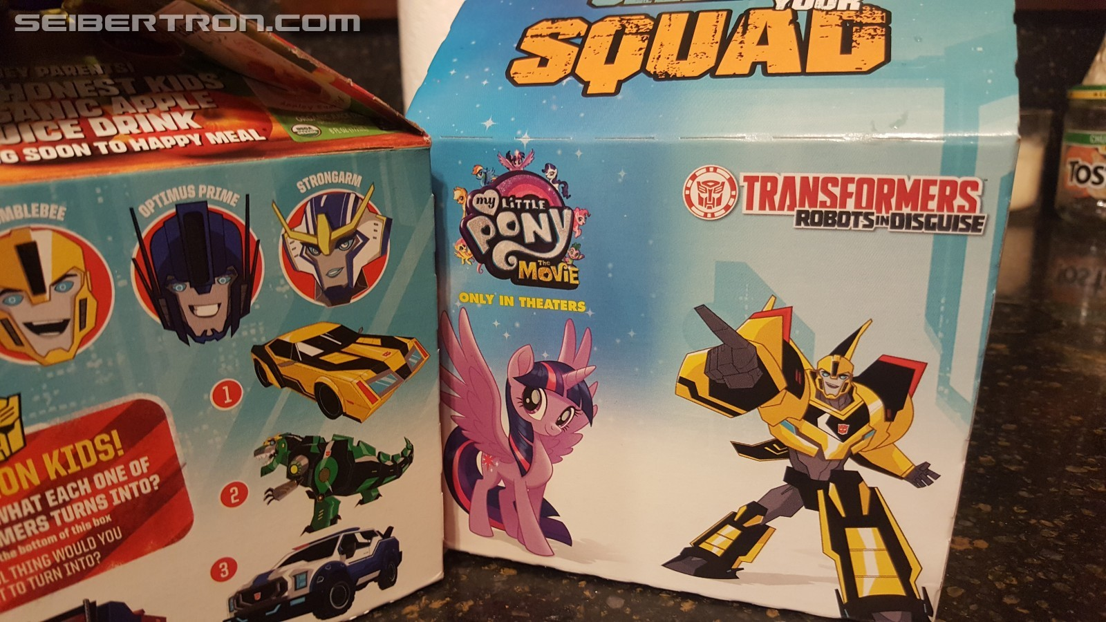 Transformers News: New McDonalds Robots in Disguise Happy Meal Box Pics