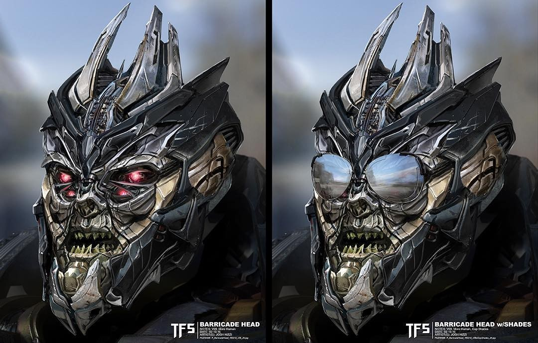 Transformers News: Transformers: The Last Knight Concept Art of Barricade