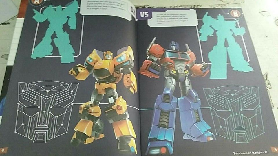 Transformers News: Transformers 'Evergreen' Activity Book Spotted in Argentina