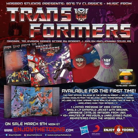 Transformers News: Transformers Original Television Series Score On Sale Friday March, 9th.