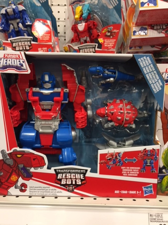 Transformers News: Transformers: Rescue Bots Knight Watch Optimus Prime in Stock at Retail
