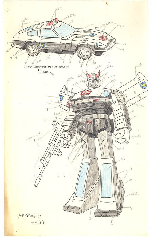 Transformers News: Transformers G1 Production Arts Revealed, Some Now up on Ebay
