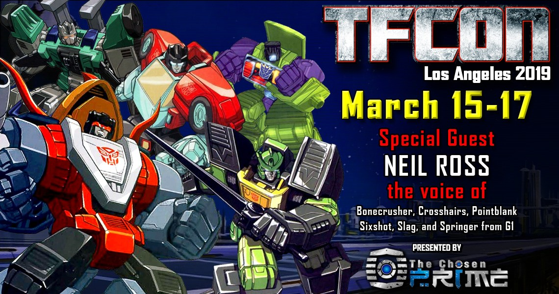 Transformers News: TFcon USA 2019 Guest Updates - Neil Ross and Alan Oppenheimer
