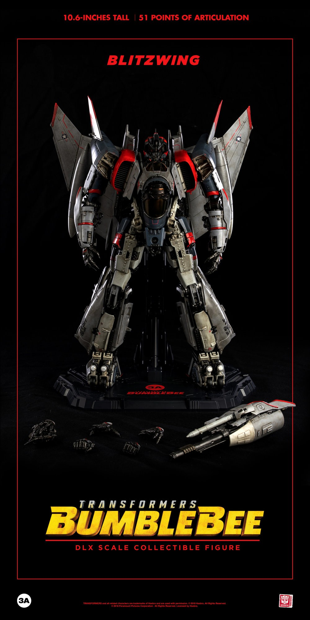 Transformers News: 3A Movie Blitzwing gallery and pre-orders go live