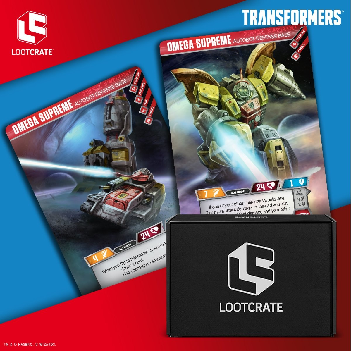 Transformers News: Transformers TCG Omega Supreme card exclusive to Loot Crate