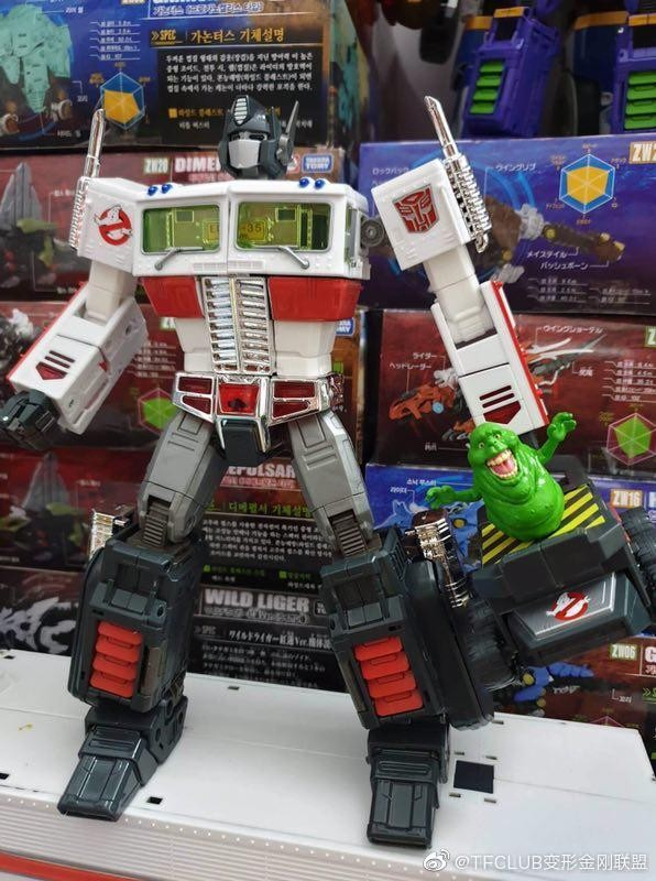 Transformers News: Possible first look at Ghostbusters Collaborative MP-10 Optimus Prime