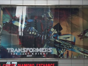 Times Square billboard features Transformers: The Last Knight