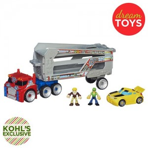 Transformers News: Kohl's exclusive Rescue Bots Optimus Prime Rescue Trailer Now Available