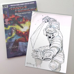 Transformers News: Andrew Wildman Transformers: Regeneration One #100 Variant Covers with Bludgeon Sketch Auctions