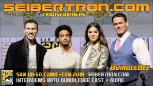 Transformers News: Video of Transformers Bumblebee Movie Red Carpet Interviews at #SDCC2018 #JoinTheBuzz