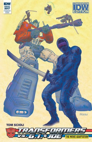Transformers News: NC Comicon 2017 - IDW Transformers vs. G.I. Joe The Movie Adaptation Released with Exclusive Cover