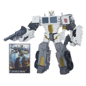 Transformers News: Transformers Generations Combiner Wars Battle Core Optimus Prime Figure In Stock on Amazon