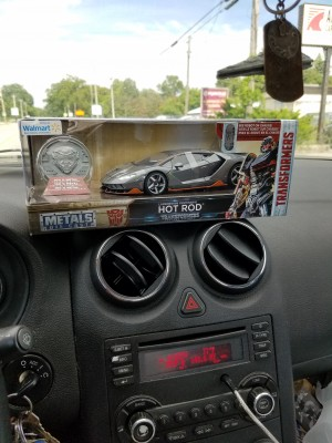 First Sighting of Walmart Exclusive 1:24 Die Cast Hot Rod from Transformers: The Last Knight